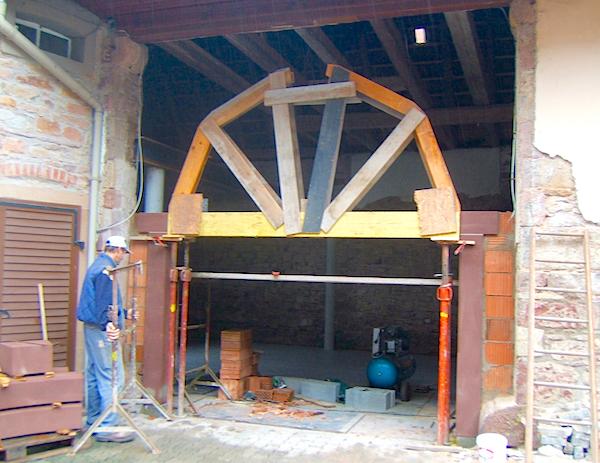 Cadre d'un cadre porte en pierre